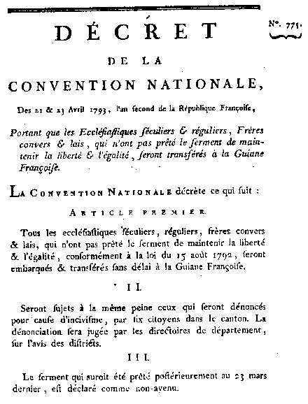 Décret de la Convention Nationale